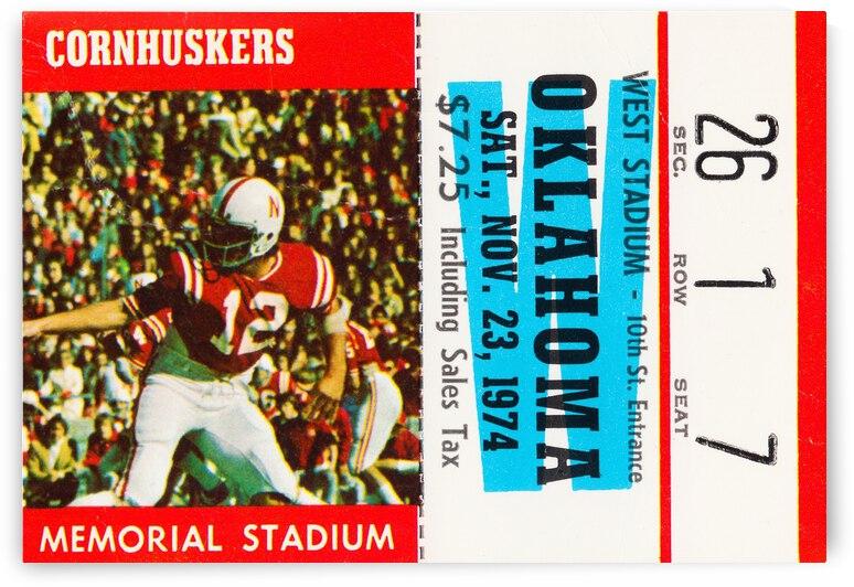1974 Oklahoma Sooners vs. Nebraska Cornhuskers by Row One Brand