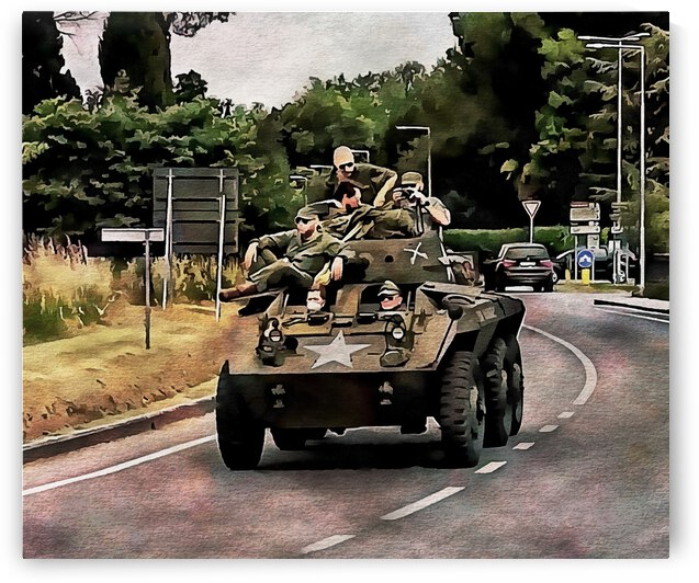 Six Wheeled Armoured Vehicle by Dorothy Berry-Lound