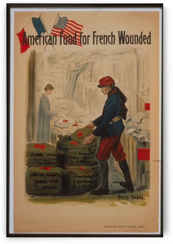 Vintage---American-fund-for-French-wounded by VINTAGE POSTER