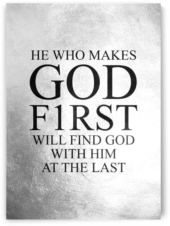 Put God First Motivational Wall Art by ABConcepts