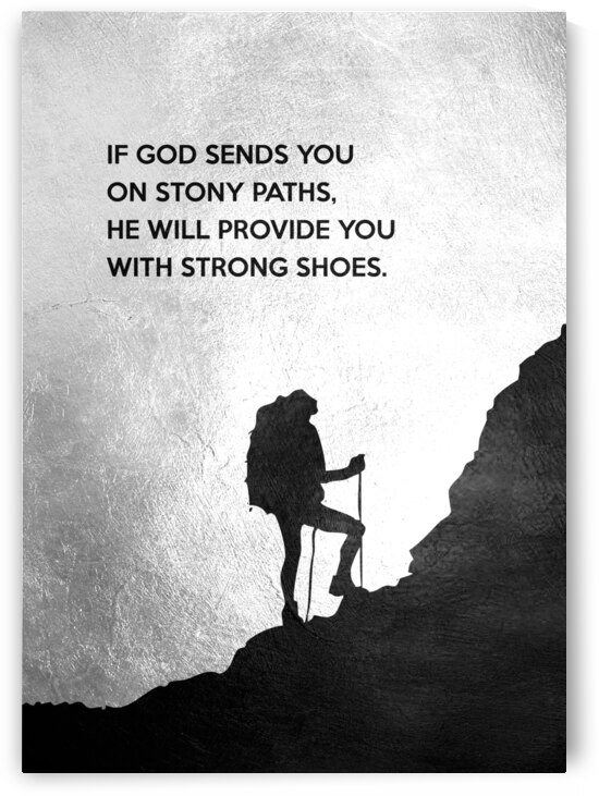 Strong Shoes for Stony Paths Motivational Wall Art by ABConcepts