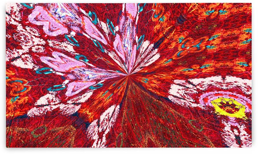 Foxfire Peacock Feather Spray by Lowell Phoenix Devin
