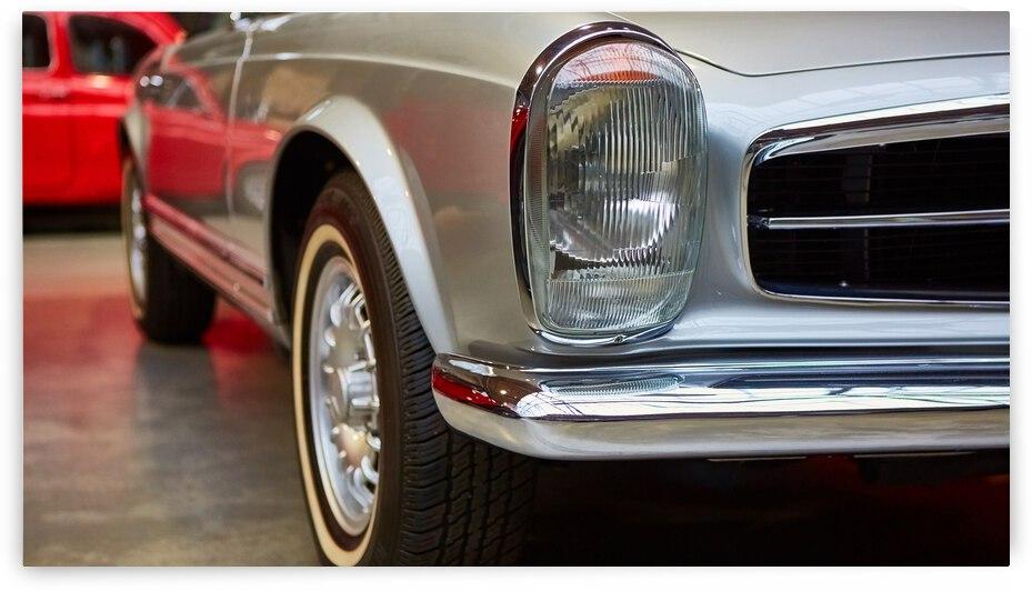detail classic car closeup headlight 1  by GrapyArt