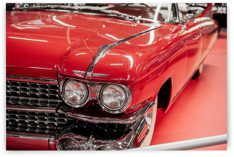 beautiful polished red vintage car by GrapyArt