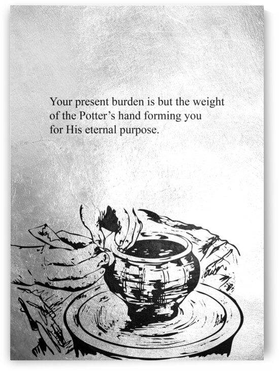 Hands of the Potter Motivational Wall Art by ABConcepts