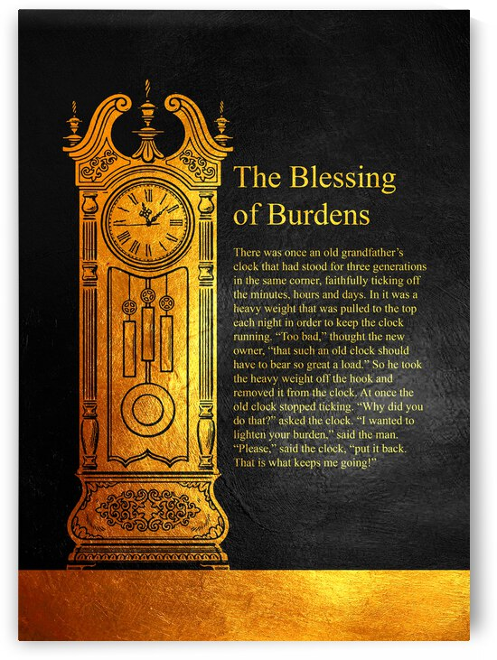 Blessing of Burdens Motivational Wall Art by ABConcepts