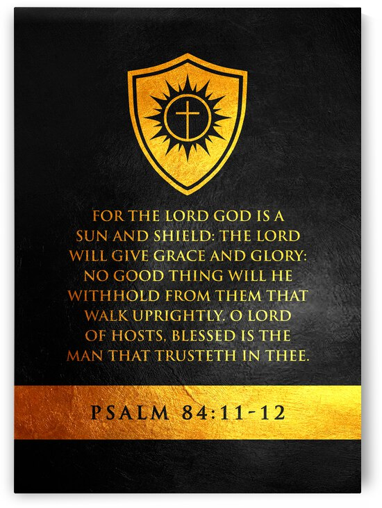 Psalm 84:11-12 Bible Verse Wall Art by ABConcepts