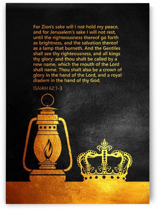 Isaiah 62:1-3 Bible Verse Wall Art by ABConcepts