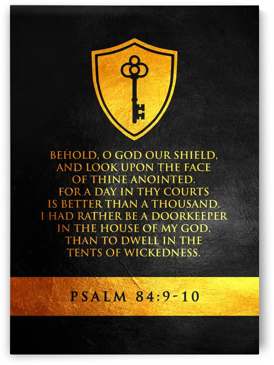 Psalm 84:9-10 Bible Verse Wall Art by ABConcepts