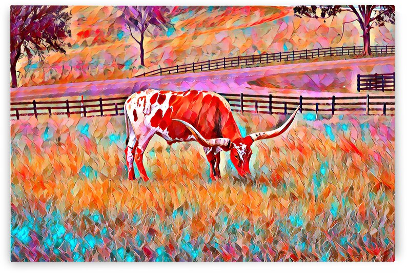 Colorful Longhorn by YR Ranch Designs