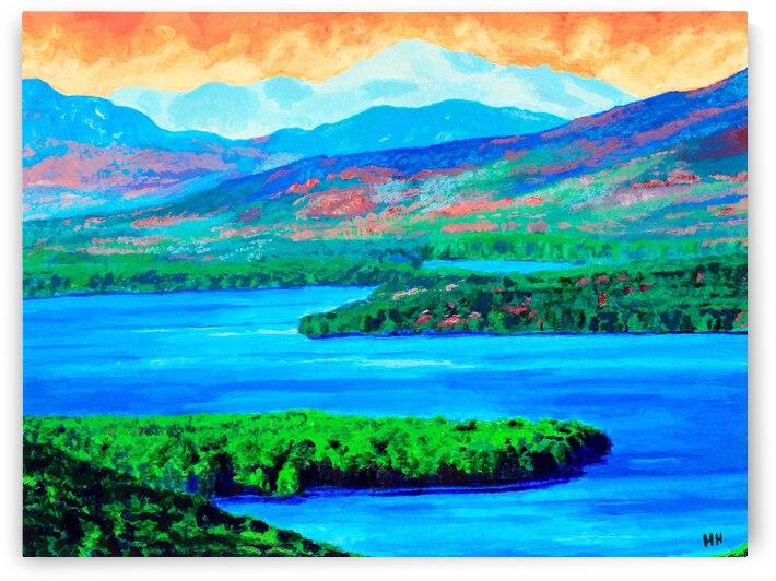 Lake Winnipesaukee Landscape Painting by Holly Heath