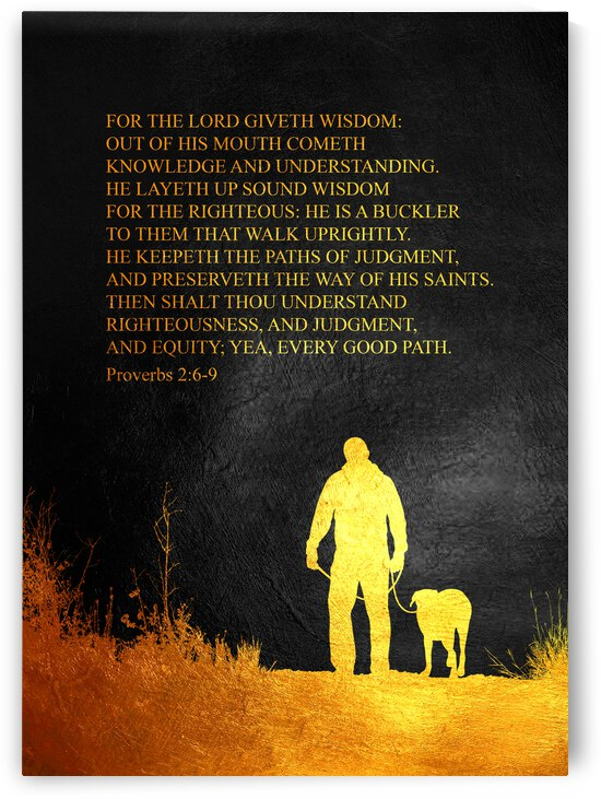Proverbs 2:6-9 Bible Verse Wall Art by ABConcepts
