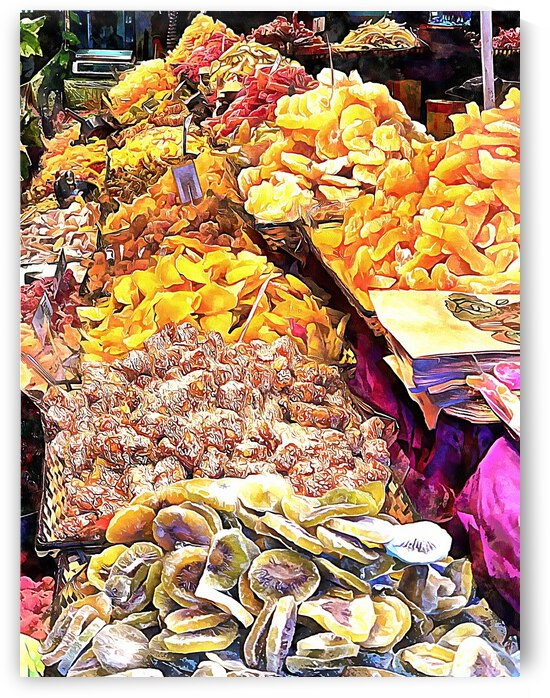 Dried Fruit Display by Dorothy Berry-Lound