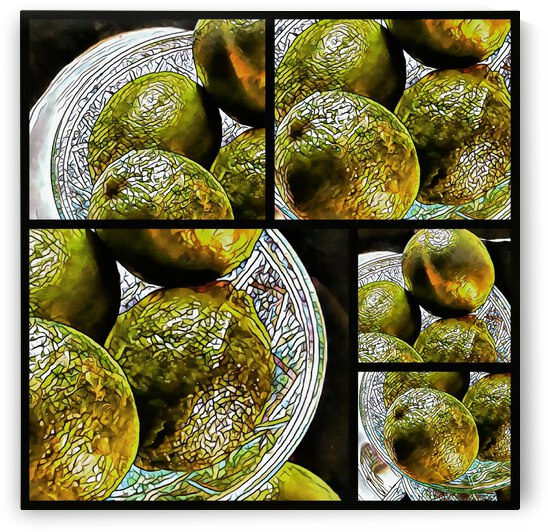 Bit and Pieces of Lime Mosaic Effect by Dorothy Berry-Lound