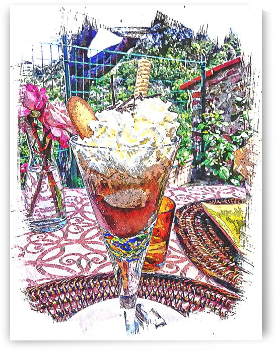 Cafe Gelato Affogato Dessert by Dorothy Berry-Lound