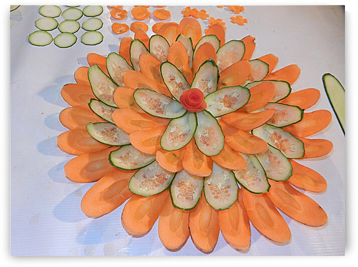 Vegetable Carving Display by Dorothy Berry-Lound