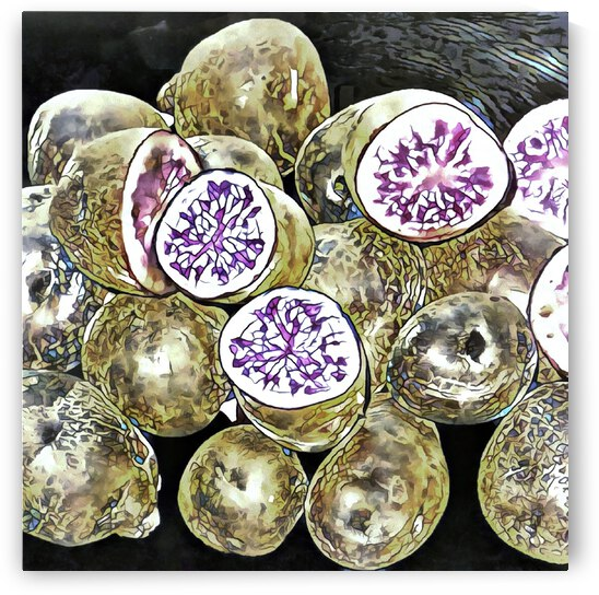 Purple Potatoes Mosaic Effect by Dorothy Berry-Lound