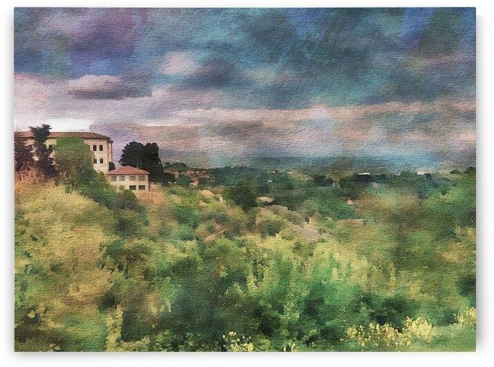 View From Montepulciano Toward Lago Trasimeno by Dorothy Berry-Lound