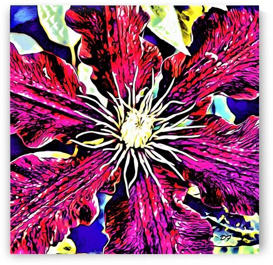 Bold Clematis Flower_IMG 7766_cartoon modern style by Darrell L Foltz