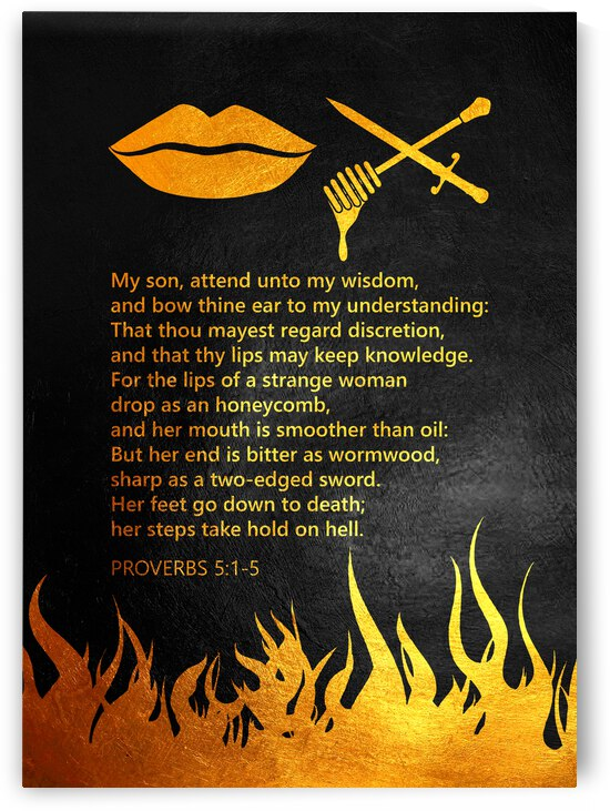 Proverbs 5:1-5 Bible Verse Wall Art by ABConcepts