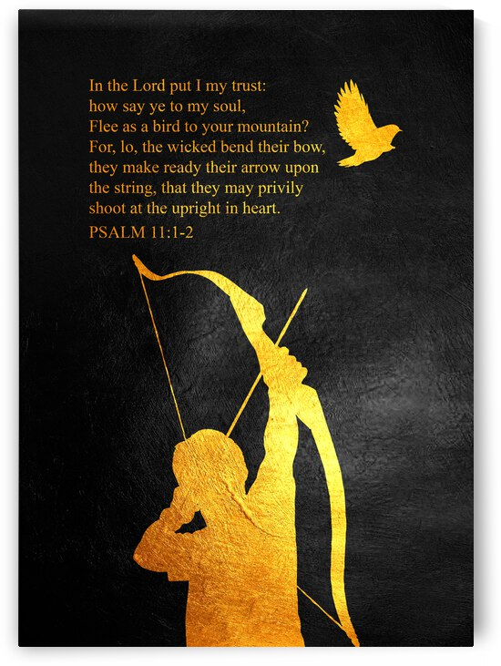 Psalm 11:1-2 Bible Verse Wall Art by ABConcepts