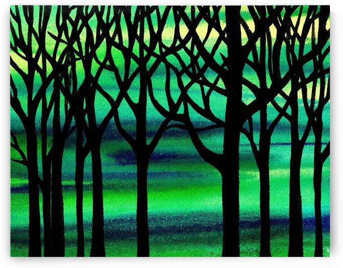 Abstract Spring Forest by Irina Sztukowski