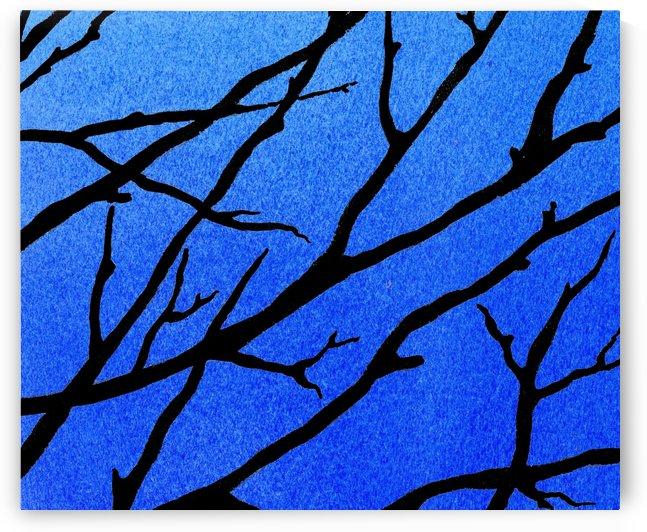 Ultramarine Forest Winter Blues II by Irina Sztukowski