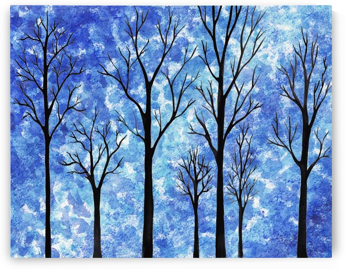 Winter In The Woods Abstract by Irina Sztukowski