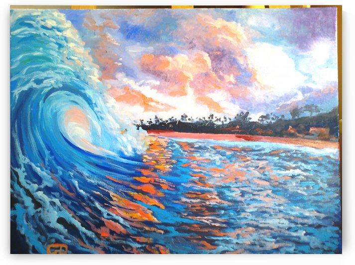 Hawaiian morning shore sunrise  by Budai George