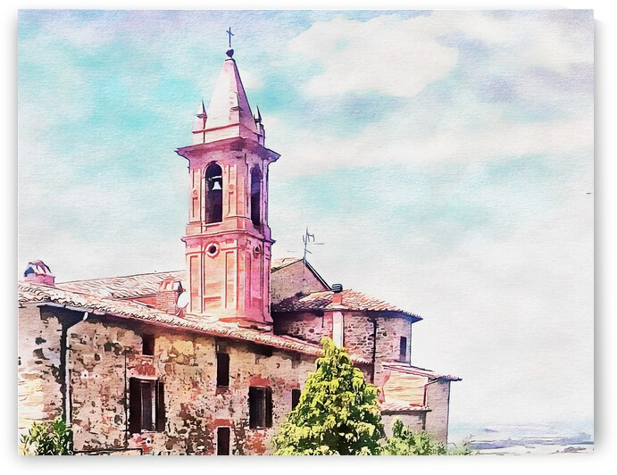Bell Tower With A View Paciano Umbria by Dorothy Berry-Lound