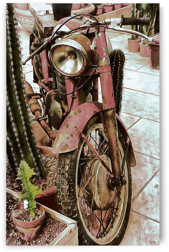 Old Rusty Motorbike by Dorothy Berry-Lound
