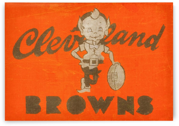 Vintage Cleveland Browns Wall Art by Row One Brand