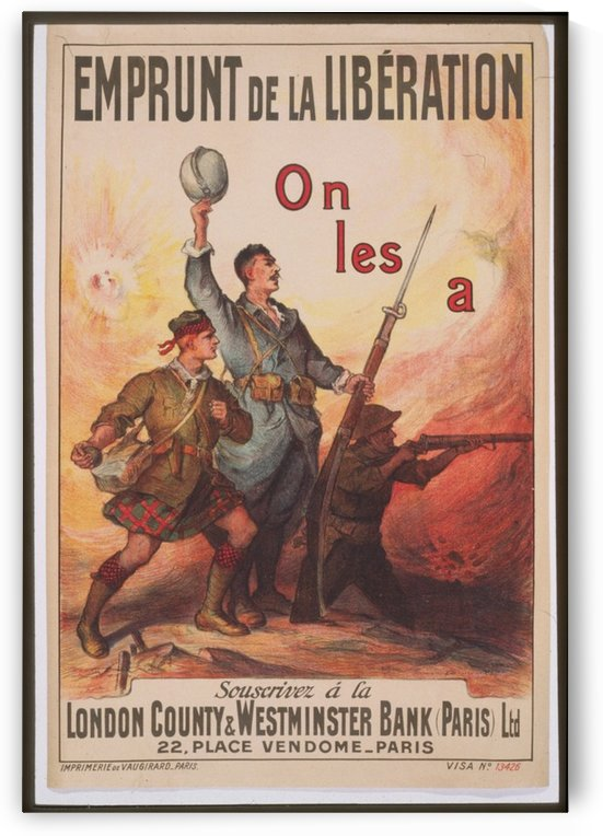 Vintage---French-Liberation-2 by VINTAGE POSTER