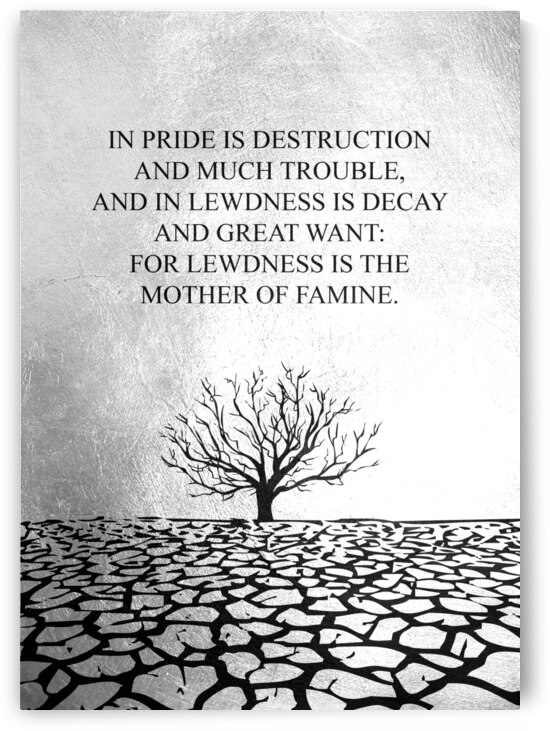 Tobit Parched Land Motivational Wall Art by ABConcepts