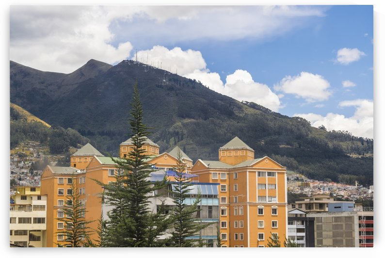 Buildings and Mountains Urban Scene in Quito Ecuador by Daniel Ferreia Leites Ciccarino