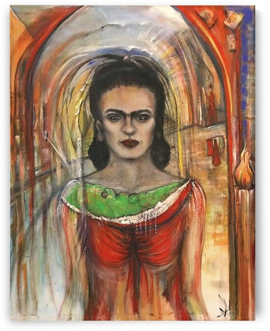 Frida Kahlo by Claffy by Becky Claffy Fine Art