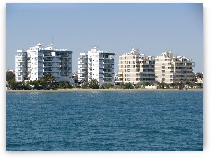 Modern buildings along the coast of Larnaca in Cyprus by Vlad Radulian