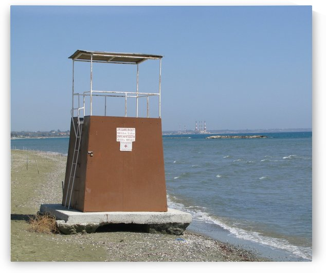 Lifeguard tower on a beach near Larnaca, Cyprus by Vlad Radulian