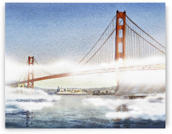 Golden Gate Bridge And San Francisco Fog  by Irina Sztukowski