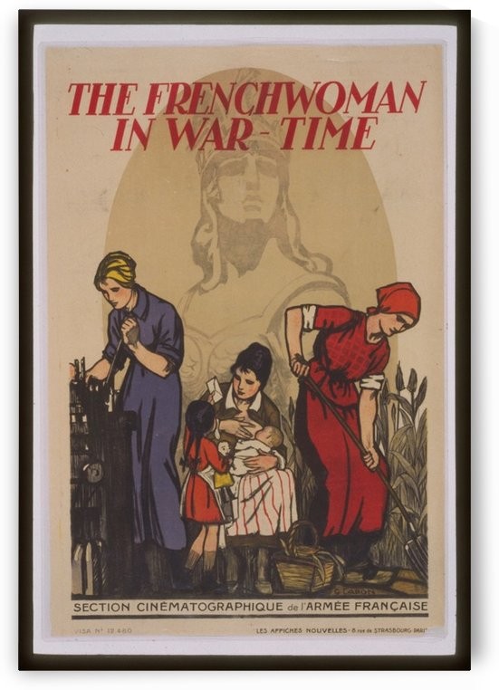 Vintage---French-Woman-in-war-time by VINTAGE POSTER