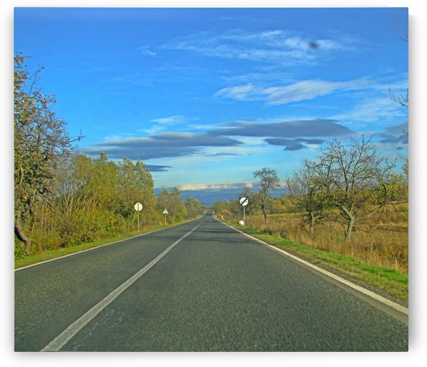 Open road in the central area of Romania by Vlad Radulian