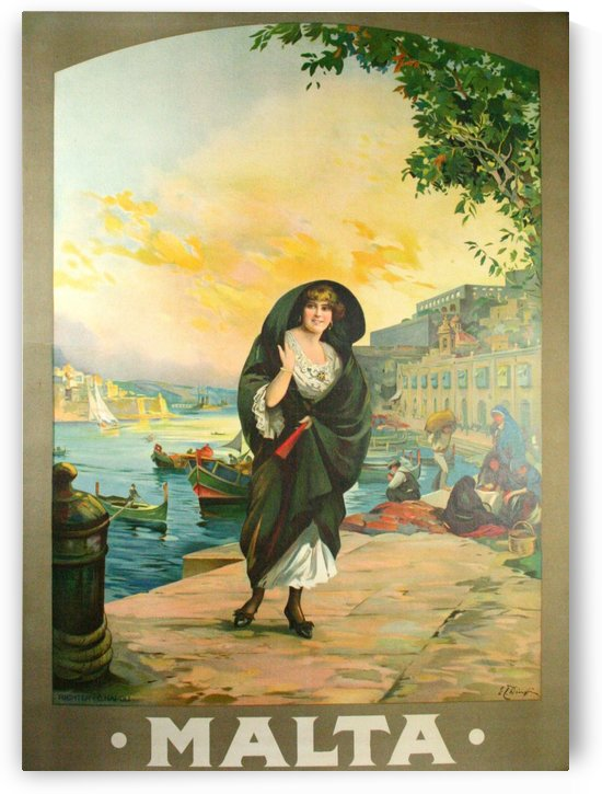 Original travel poster for Malta in 1900 by VINTAGE POSTER