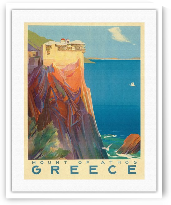Greece Vintage Travel Poster by VINTAGE POSTER