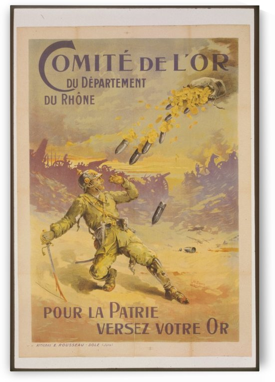 Vintage---Gold-and-Bombs by VINTAGE POSTER