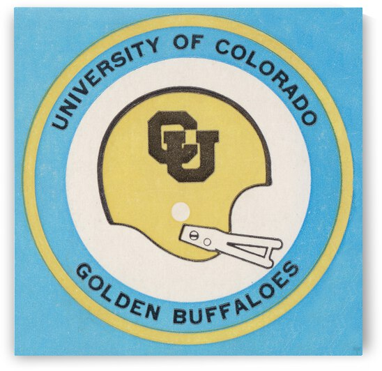 1973 Colorado Buffaloes Football Helmet Art by Row One Brand
