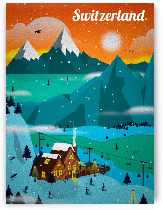 Visit Switzerland vintage travel poster by VINTAGE POSTER