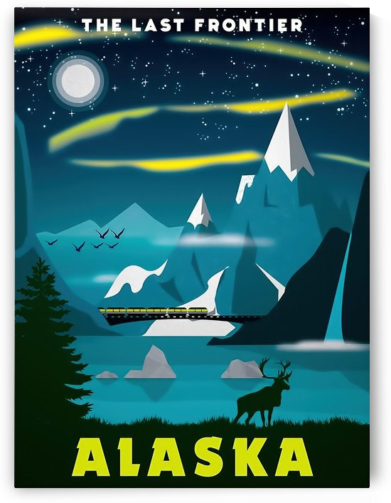 The last frontier Alaska travel poster by VINTAGE POSTER