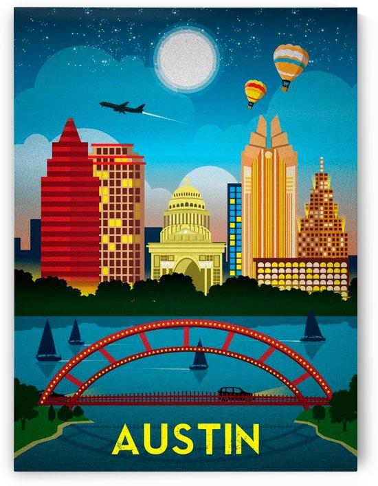 Austin vintage travel poster by VINTAGE POSTER