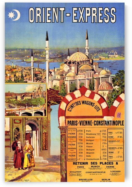 1891 Vintage Travel Poster Orient Express Ochoa y Madrazo by VINTAGE POSTER