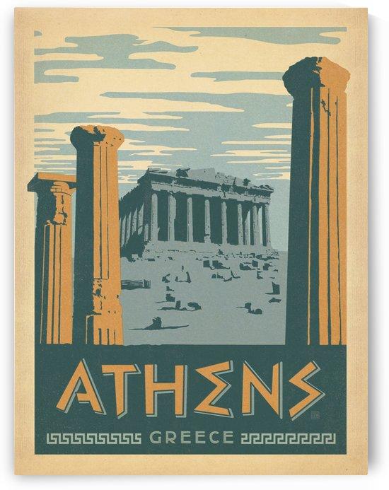 Athens Greece vintage poster by VINTAGE POSTER